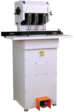 """Lassco-Wizer Paper Drill: 3 Spindle, Moveable Heads and 2.5"""" Hydraulic"""