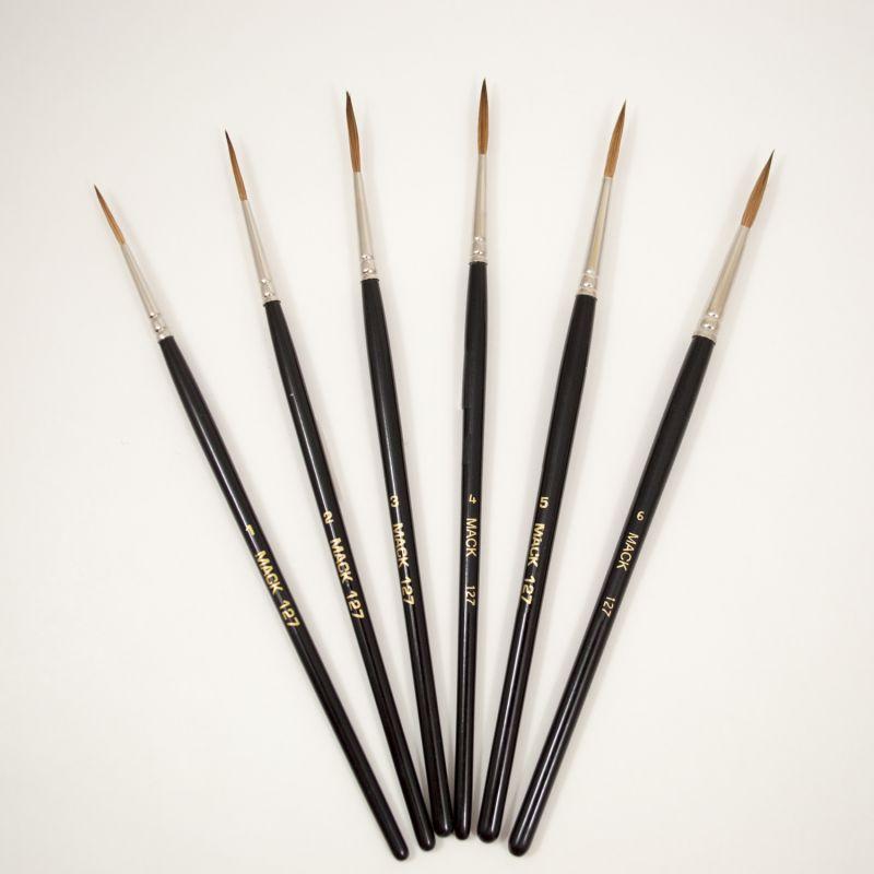 Pure European Dressed Sable Script Brush (127)