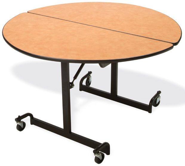 """Mitchell 60"""" Round Table with Nickel Chromium Legs: 29"""" Height"""