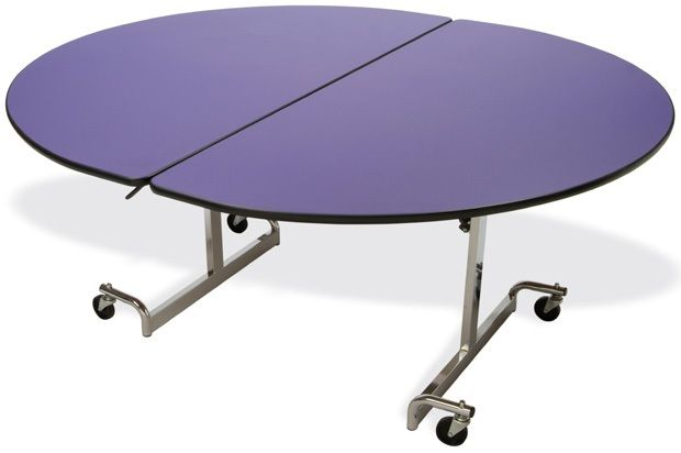 """Mitchell 60"""" x 72"""" Oval Table with Nickel Chromium Legs: 27"""" Height"""