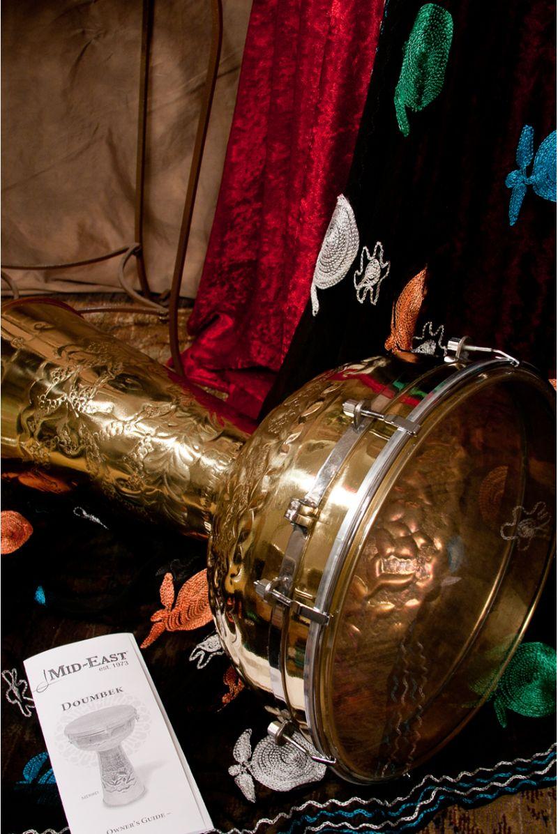 "Mid-East Brass Doumbek W/ Synthetic Head 12""X20"""