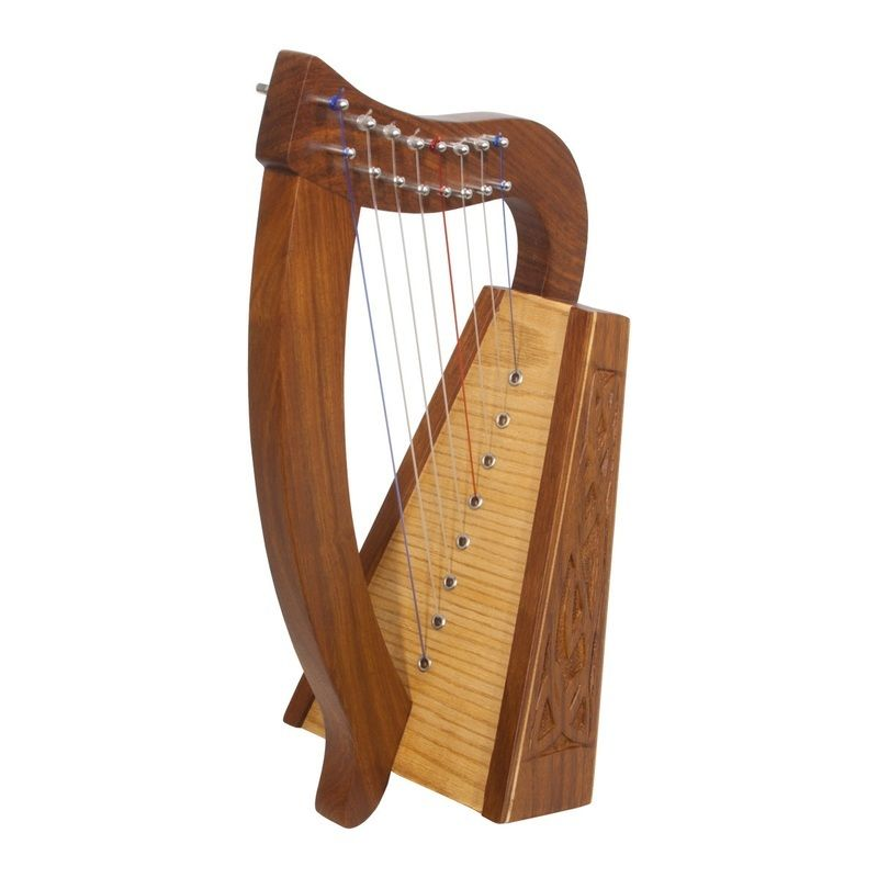 Roosebeck Lily Harp 8-String Knotwork
