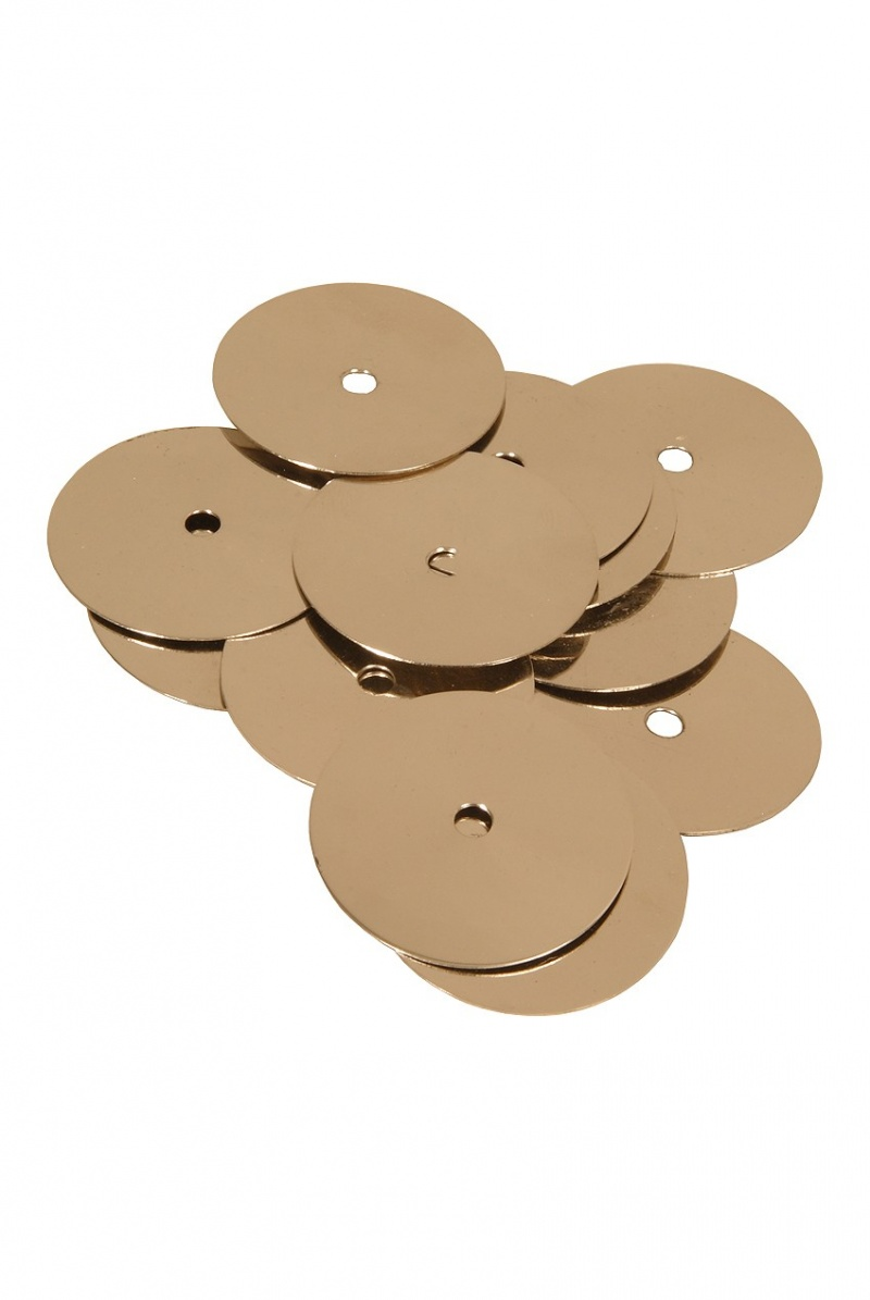 Mid-East Nickel Plated Brass Tambourine Jingles 100-Count