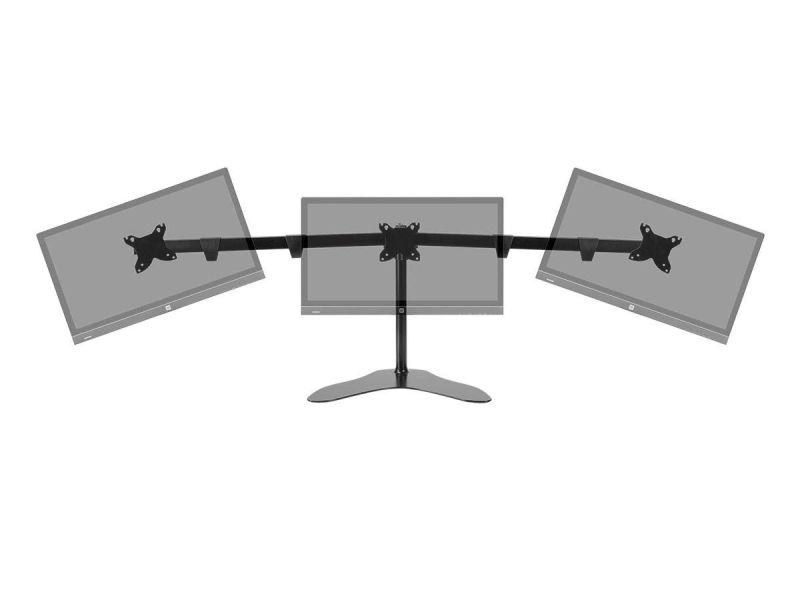 Monoprice Triple Monitor Free Standing Desk Mount 15~30in