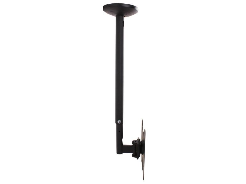Monoprice Commercial Series Ceiling Adjustable Tv Mount Bracket - For Led Tvs 23in To 42in, Max Weight 55 Lbs., Extension Range Of 23.8in To 33.6in, Vesa Patterns Up To 200x200, Ul Certified