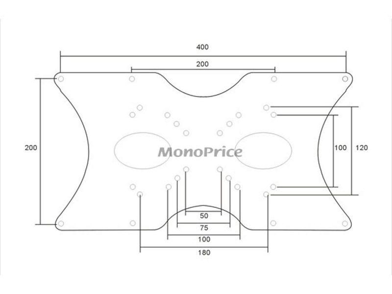 Monox50mm To 400X200mm Tv Wall Mount Bracket Universal Vesa Adapter Plate