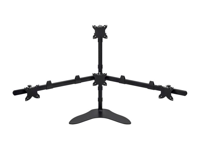 Monoprice Quad Monitor Pyramid Free Standing Desk Mount For 15~30in Monitors