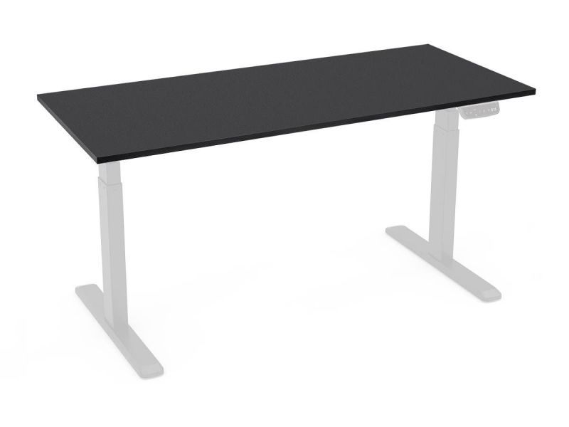 Workstream By Monoprice Table Top For Sit-stand Height Adjustable Desk, 6ft Black