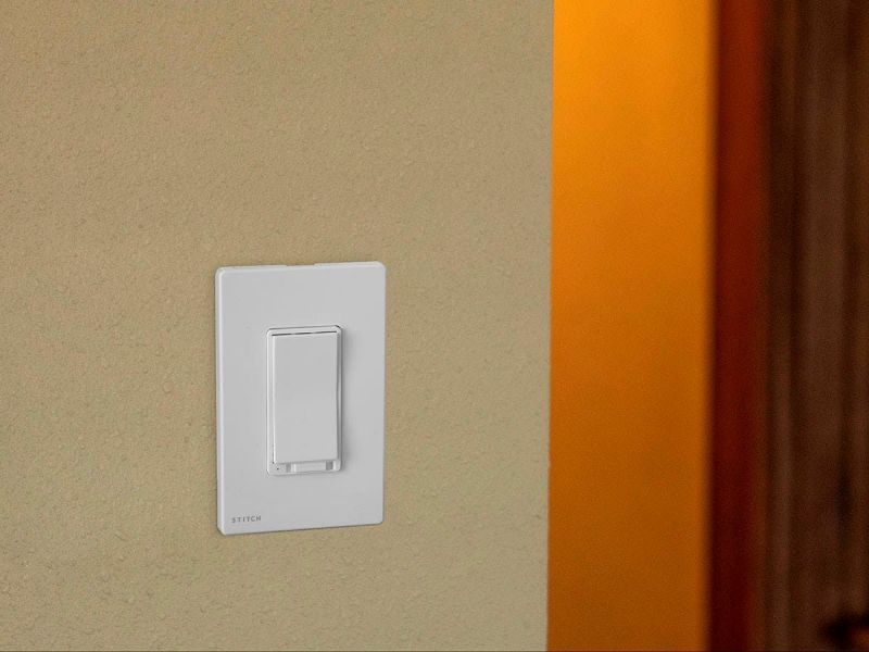 Stitch By Monoprice Smart In-wall On/off Light Switch With Dimmer, Works With Alexa And Google Home For Touchless Voice Control, No Hub Required
