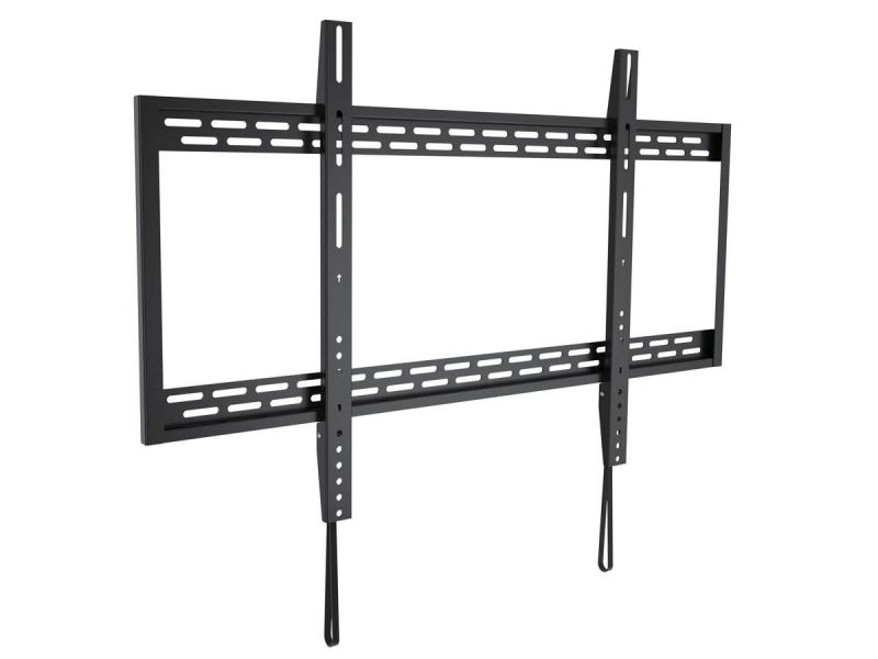 Monoprice Ez Series Low Profile Fixed Tv Wall Mount Bracket For Wide Screen Tvs 60In To 100In, Max Weight 220 Lbs, Vesa Patterns Up To 900X600, Works With Concrete And Brick, Ul Certified