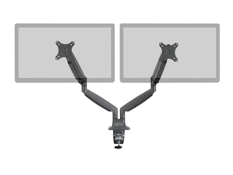 Workstream By Monoprice Dual Monitor Adjustable Gas Spring Desk Mount For 15~34in Monitors