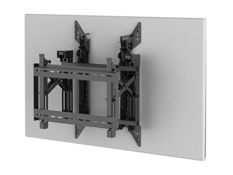 Monoprice Commercial Series Portrait Push-to-pop-out Video Wall System Bracket For Tvs 45in To 70in, Max Weight 154 Lbs, Rotating, Tilting With Vesa Up To 600x400