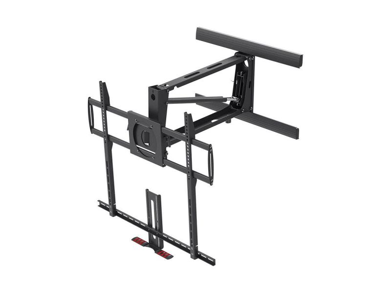 Monoprice Above Fireplace Mantel Pull-Down Full-Motion Articulating Tv Wall Mount Bracket For Led Tvs 55In To 100In, Max Weight 143 Lbs, Vesa Patterns Up To 800X600, Rotating, Height Adjustable