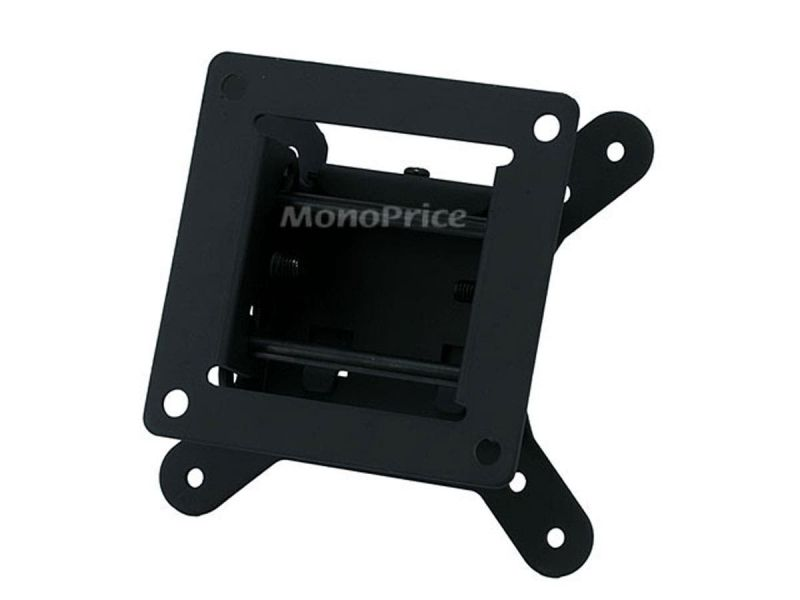 Monoprice Ez Series Low Profile Tilt Tv Wall Mount Bracket - For Led Tvs 10In To 26In, Max Weight 30Lbs, Vesa Patterns Up To 100X100, Concrete / Brick Only