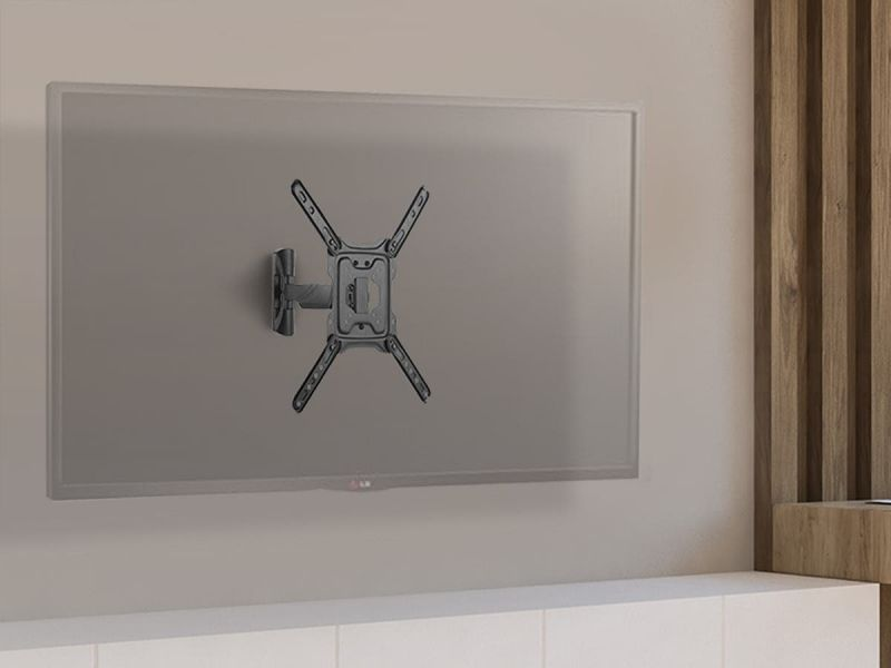 Monoprice Ez Series Full-motion Articulating Tv Wall Mount Bracket For Tvs 23in To 55in, Max Weight 77lbs, Extension Range Of 1.9in To 12in, Vesa Patterns Up To 400x400