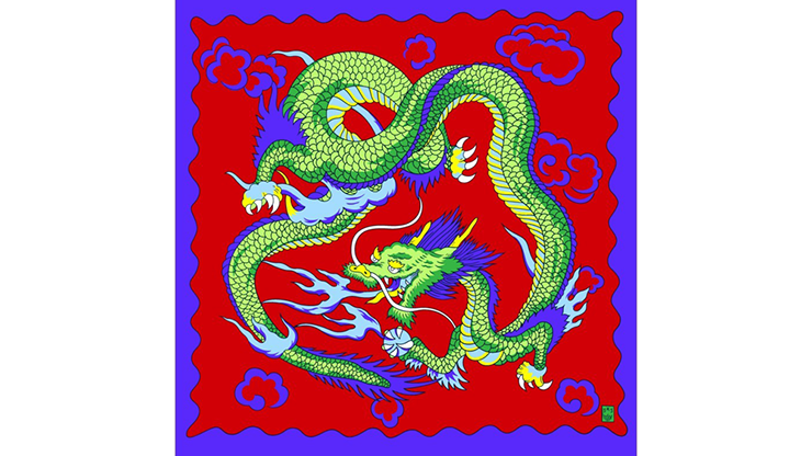 """Rice Picture Silk 18"""" (imperial Dragon) By Silk King Studios - Trick"""