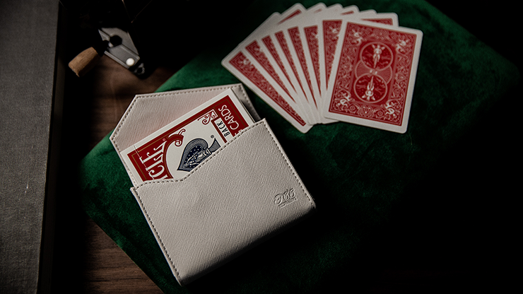 Luxury Leather Playing Card Carrier (White) By Tcc - Trick
