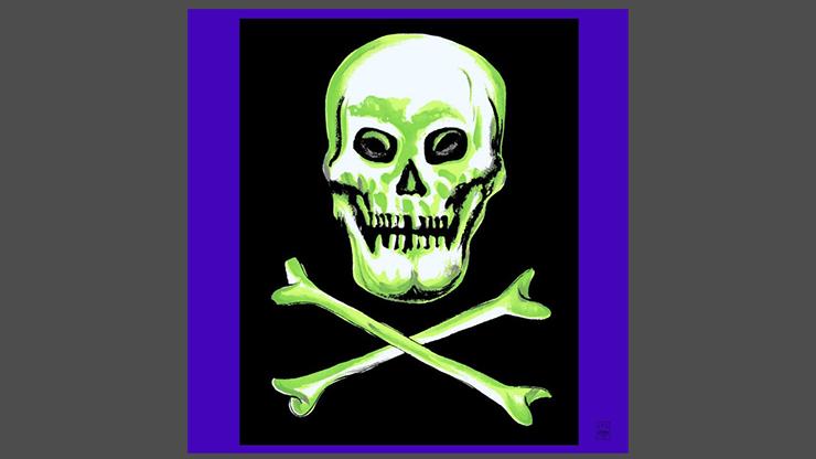 "Rice Symphony Silk 36"" (Skull And Cross Bones) By Silk King Studios - Trick"