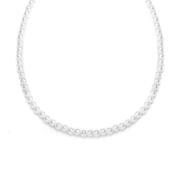 Single Strand 4mm Pearl Wedding Necklace