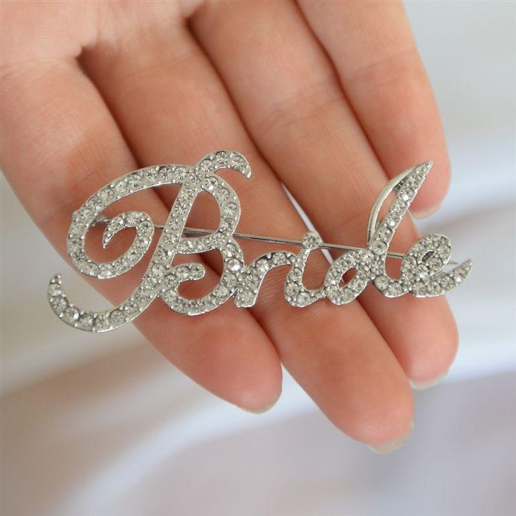 """Crystal """"Bride"""" Pin"""
