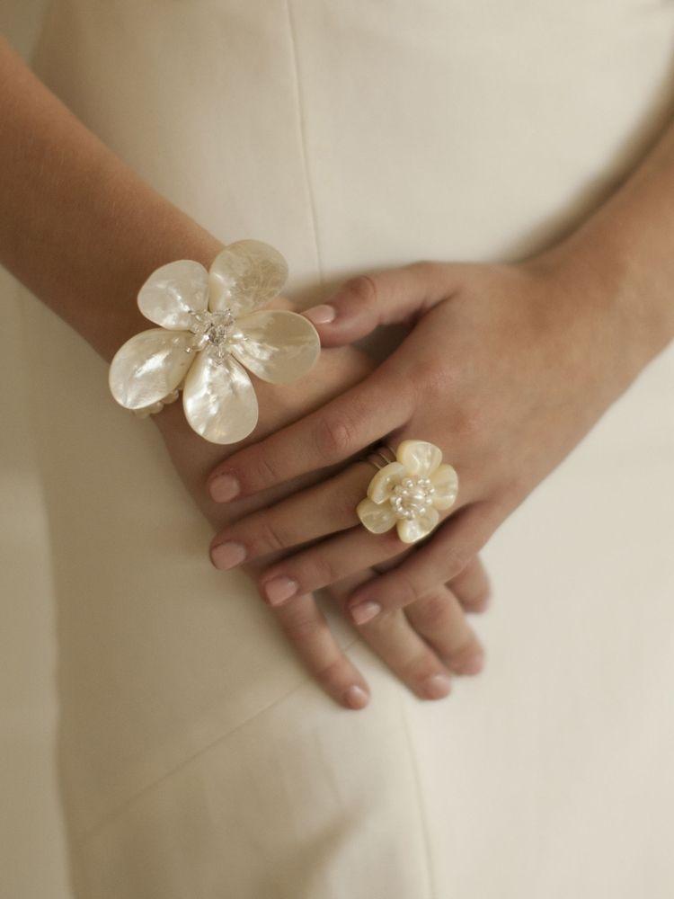 Exotic Freshwater Pearl Bridal Ring