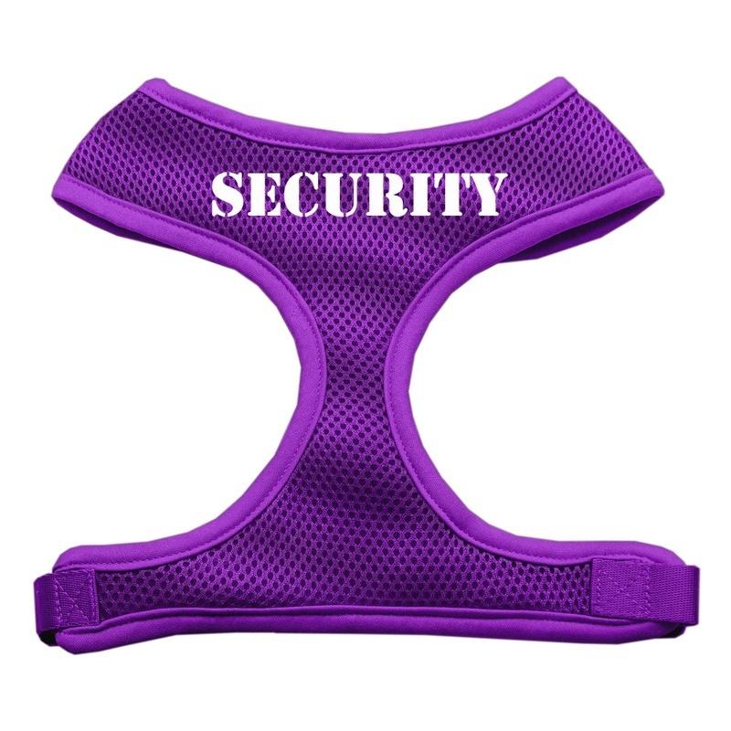 Security Design Soft Mesh Pet Harness Purple Medium