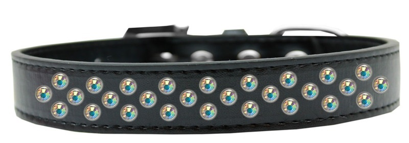 Sprinkles Dog Collar Ab Crystals Size 14 Black