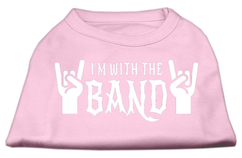 With The Band Screen Print Shirt Light Pink Xxl