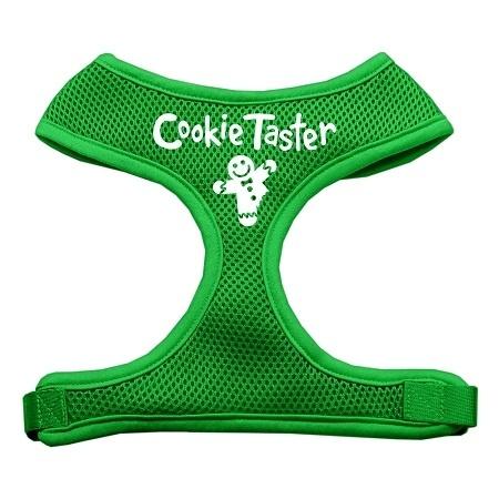 Cookie Taster Screen Print Soft Mesh Pet Harness Emerald Green Large