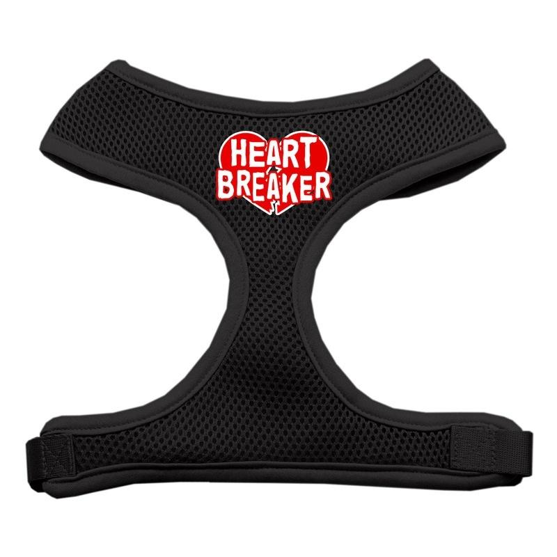 Heart Breaker Soft Mesh Pet Harness Black Small