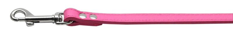 Fashionable Leather Dog Leash Pink 1/2'' Wide