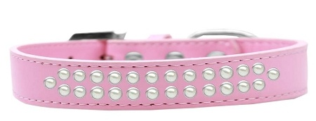 Two Row Pearl Size 16 Light Pink Dog Collar
