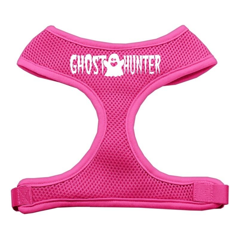 Ghost Hunter Design Soft Mesh Pet Harness Pink Small