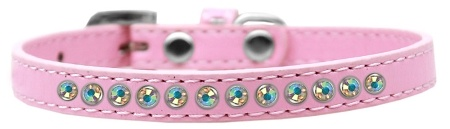 Ab Crystal Size 8 Light Pink Puppy Collar