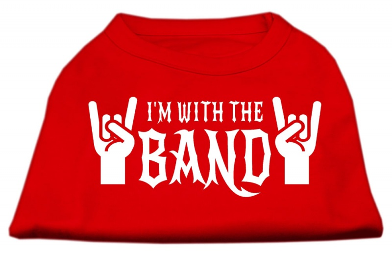 With The Band Screen Print Shirt Red Lg