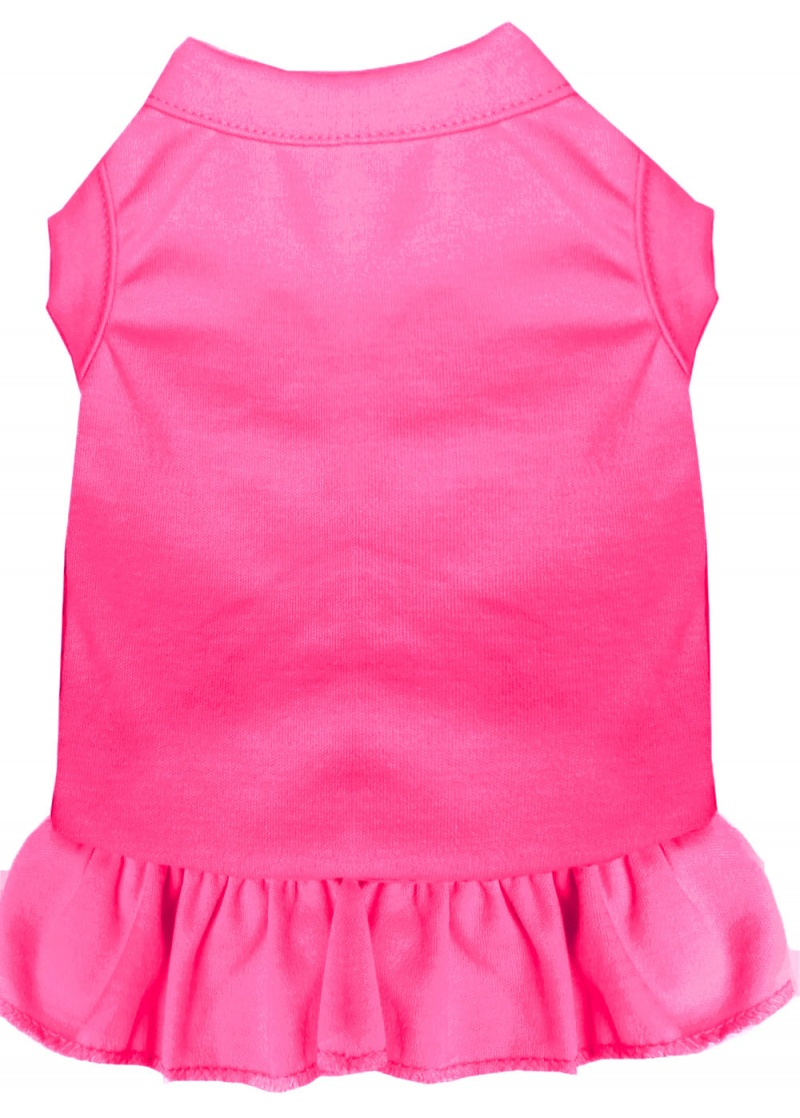 Plain Pet Dress Bright Pink Med