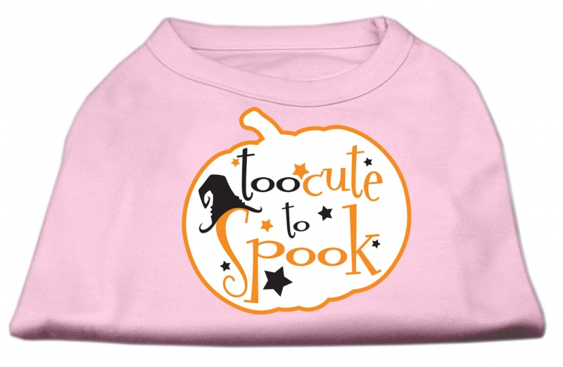 Too Cute To Spook Screen Print Dog Shirt Light Pink Med