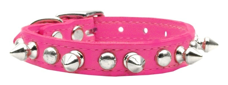 Chaser Leather Dog Collar Pink 20