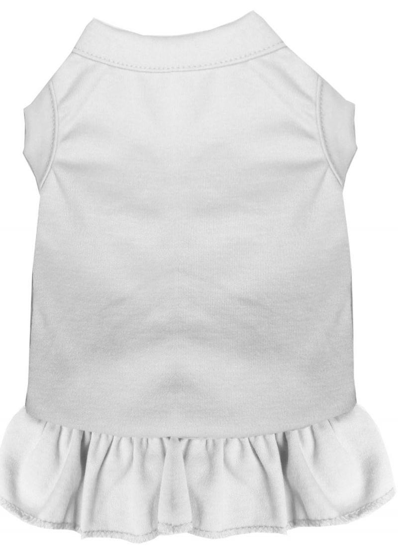 Plain Pet Dress White Xxxl