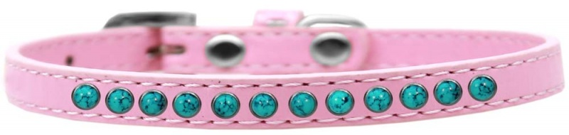 Southwest Turquoise Pearl Size 12 Light Pink Puppy Collar