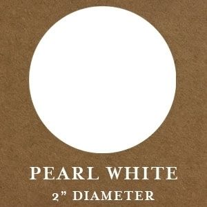 """2"""" Round Pearl White Embossing Seals"""