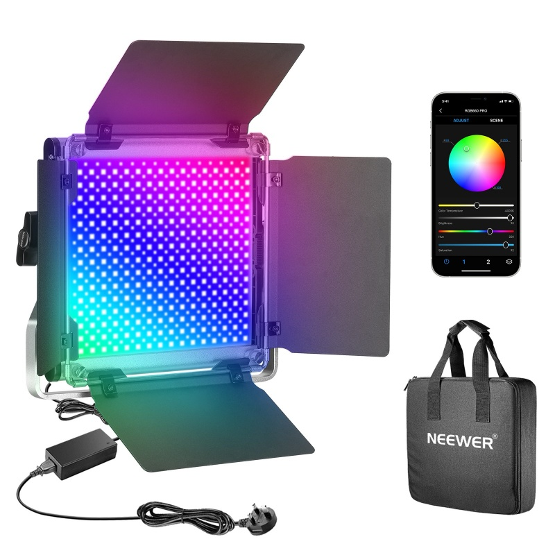 Neewer Cri 97 50W 660 Pro Rgb Led Light With App Control Adjustable Colors Metal Shell