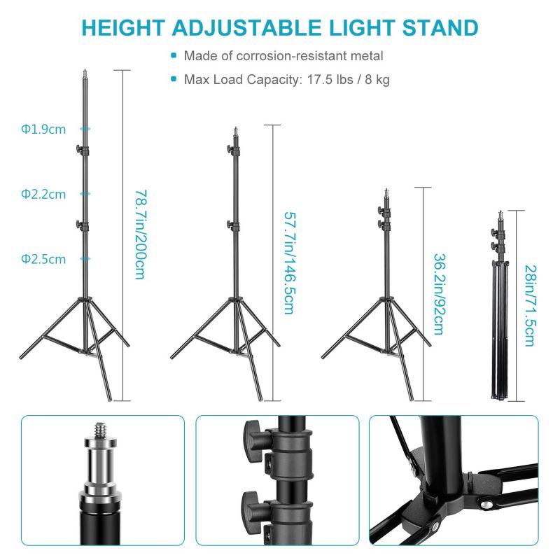Neewer 2 Packs 660 Led Video Light With Stand Kit With 8-color Filter Set And Large Carrying Bag For Studio Video Shooting