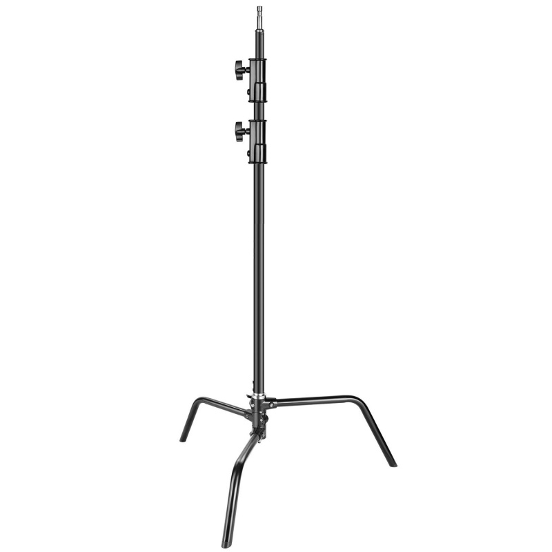 Neewer Heavy Duty Light Stand With Detachable Base 5-10 Feet/1.6-3.2 M Adjustable C Stand With 2 Risers