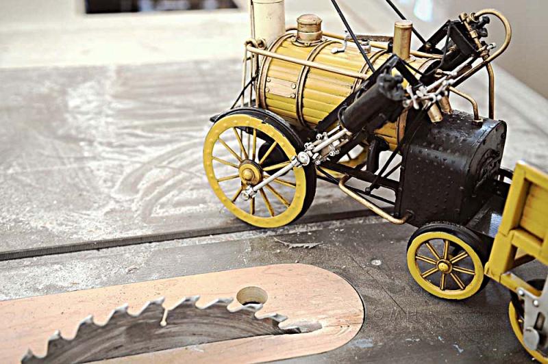 1829 Yellow Stephenson Rocket Steam Locomotive