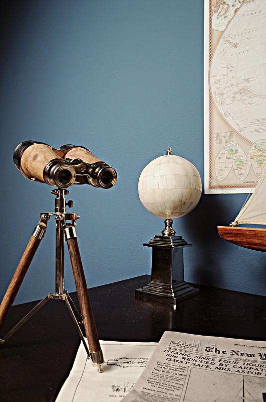 Brass Binocular On Stand