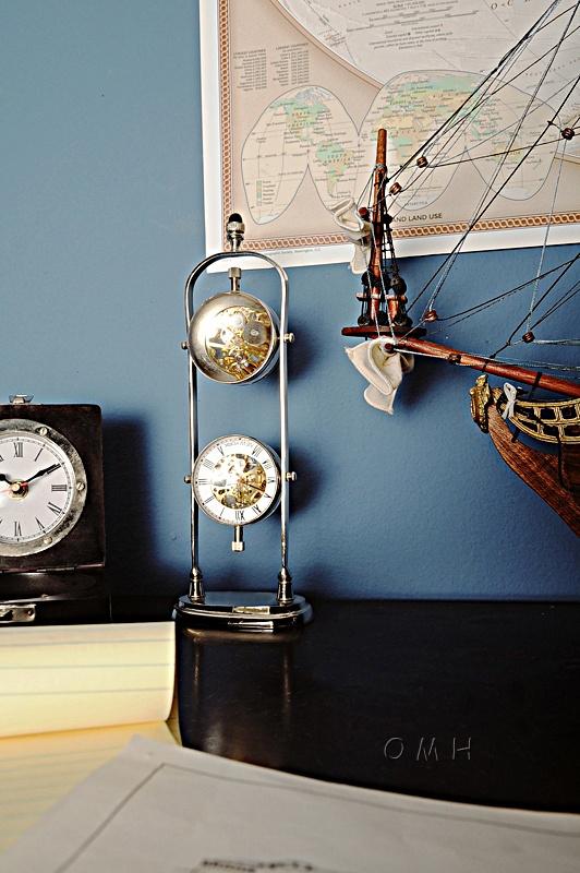 Brass See Thru Clock Double