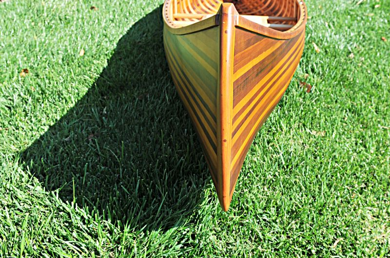 Wooden Canoe With Ribs Curved Bow Matte Finish 10 Ft