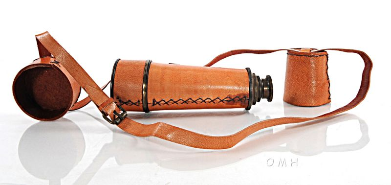 Handheld Telescope W Leather Overlay-15 Inches