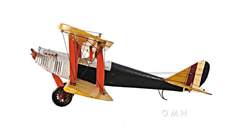 Yellow Curtis Jenny Plane1:18
